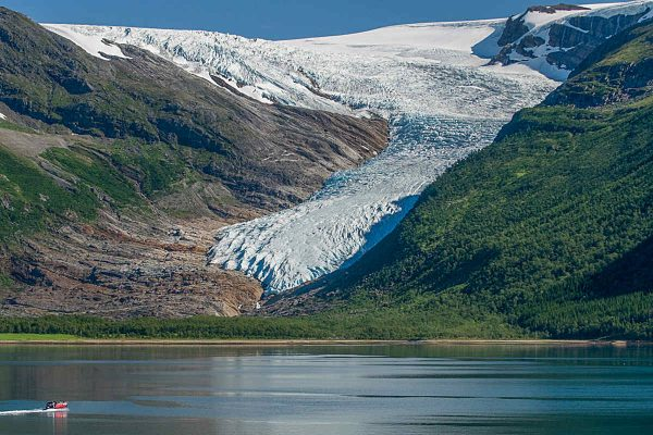 svartisen glacier in northern norway